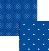 Wekabo Achtergond vel 210 - Puntjes donker blauw