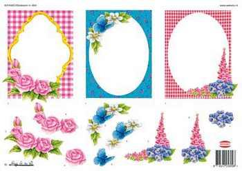 Wekabo 3D vel Frame met bloemen