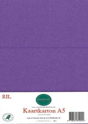 Hobbycentraal A5 Kaartkarton paars
