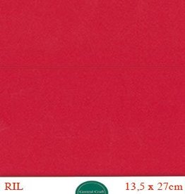 Hobbycentraal Kaartkarrton 13,5_27 cm   20 vel rood