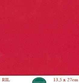 Hobbycentraal Kaartkarrton 13,5_27 cm rood