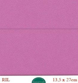 Hobbycentraal Kaartkarrton 13,5_27 cm donker roze