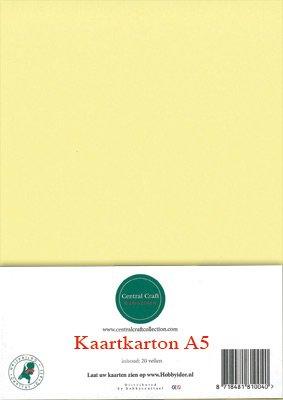 Hobbycentraal A5 Kaartkarton geel