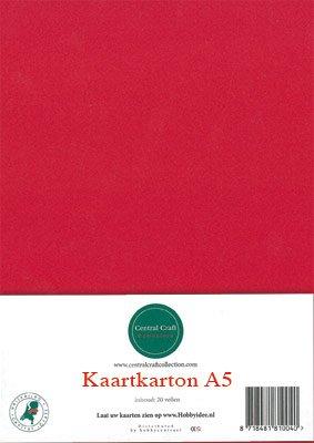 Hobbycentraal A5 Kaartkarton rood