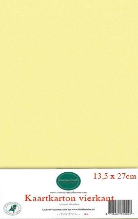 Hobbycentraal 13,5 x 27 cm Kaartkarton geel
