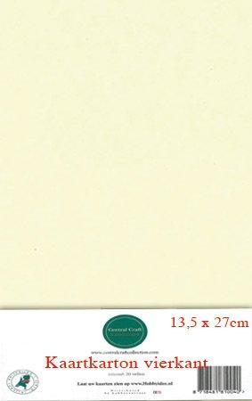 Hobbycentraal 13,5 x 27 cm Kaartkarton creme