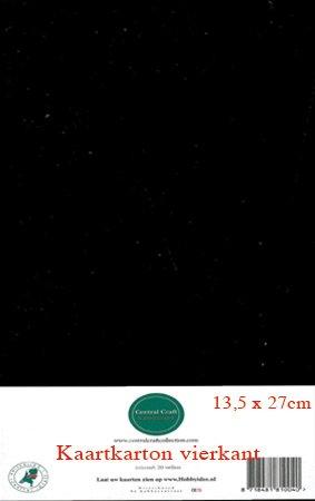 Hobbycentraal 13,5 x 27 cm Kaartkarton zwart