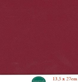 Hobbycentraal 13,5 x 27 cm Kaartkarton   20 vel  bordeaux