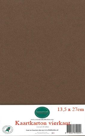 Hobbycentraal 13,5 x 27 cm Kaartkarton   20 vel  Bruin