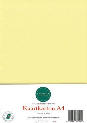 Hobbycentraal A4 Kaartkarton  10 vel  geel