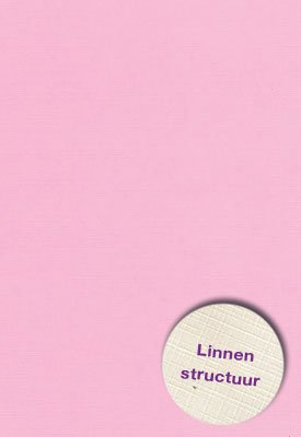 Hobbycentraal A5 Karton Linnen  roze