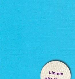 Hobbycentraal Karton 13,5_27cm Linnen  10 vel   blauw