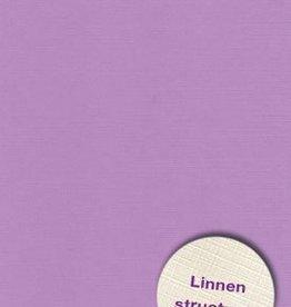 Hobbycentraal Karton 13,5_27cm Linnen  10 vel   lila