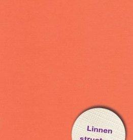 Hobbycentraal Karton 13,5_27cm Linnen  10 vel   oranje
