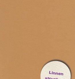Hobbycentraal Karton 13,5_27cm Linnen  10 vel   l.bruin