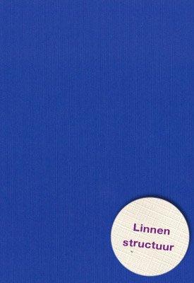 Hobbycentraal 13,5 x 27 cm  Linnen 10 vel Blauw