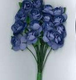 Hobby Idee Papieren Roosjes Blauw 10mm