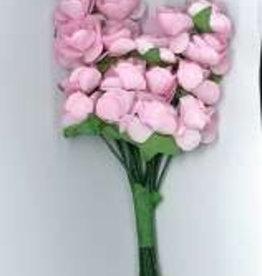 Hobby Idee Papieren Roosjes Roze 10mm