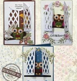 Creatief Art Flower Owls 01
