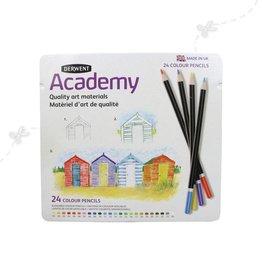 Derwent Derwent Academy colour pencils 24 pcs in tin