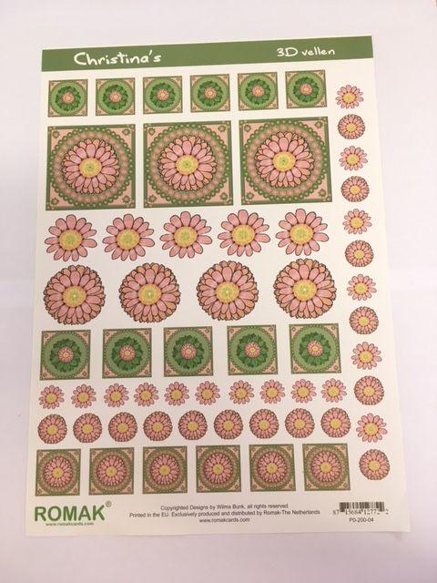 Romak 3D vel Christina's Romak bloemen