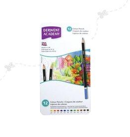 Derwent Derwent Academy Colour pencils 12 pcs in tin