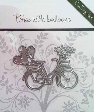 Romak Romak snijmal Bike with balloons