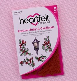 Heartfelt Festive Holly & Cardinals Cling Stamp Set