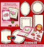 Doodey 3D Roses Card + 6 cardlayers