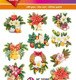 Hearty Crafts Easy 3D - Christmas Flowers
