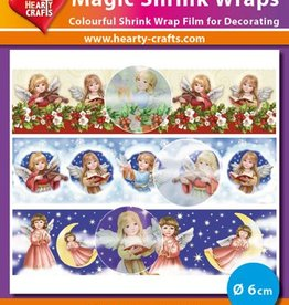 Hearty Crafts Magic Shrink Wraps, Metalic, Angels(⌀ 6 cm)