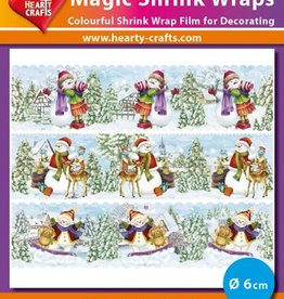 Hearty Crafts Magic Shrink Wraps, Snowmen (1) (⌀ 6 cm)