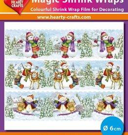 Hearty Crafts Magic Shrink Wraps, Snowmen (1) (⌀ 6 cm)
