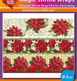 Hearty Crafts Magic Shrink Wraps, Poinsettia (⌀ 6 cm)