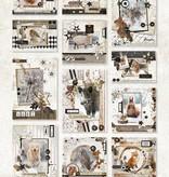 Studiolight STANSBLOK A4, CONTENT 12 SHEETS DIE CUT, FROZEN FOREST NR.52