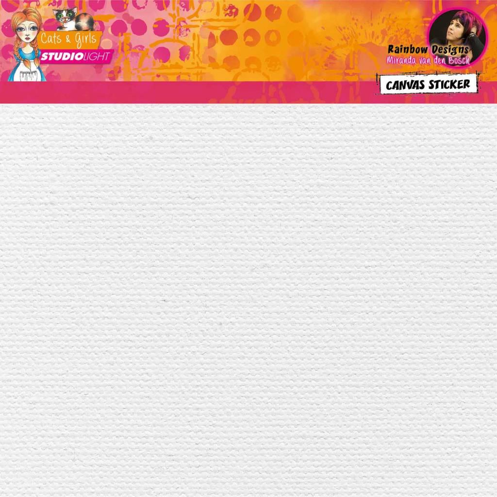 Studiolight 2 sheets White self adhisive canvas Rainbow Designs 01
