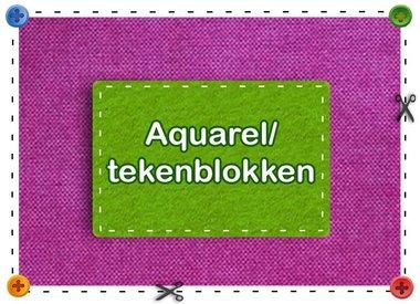Aquarel/teken blokken