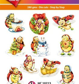 Hearty Crafts Easy 3D-Toppers Ladybug, Winter