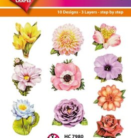 Hearty Crafts Easy 3D-Toppers - Flowers
