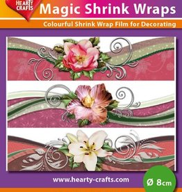 Hearty Crafts Magic Shrink Wraps, Flower Swing (⌀ 8 cm)