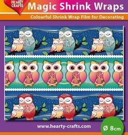 Hearty Crafts Magic Shrink Wraps, Owls (⌀ 8 cm)