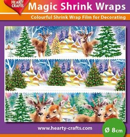 Hearty Crafts Magic Shrink Wraps, Winter (⌀ 8 cm)