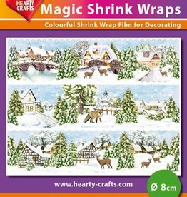 Hearty Crafts Magic Shrink Wraps, WinterVillage (⌀ 8 cm)