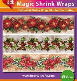 Hearty Crafts Magic Shrink Wraps, X-mas Flowers (⌀ 8 cm)