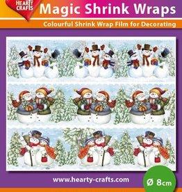 Hearty Crafts Magic Shrink Wraps, Snowmen (2) (⌀ 8 cm)