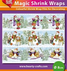 Hearty Crafts Magic Shrink Wraps, Snowmen (1) (⌀ 8 cm)