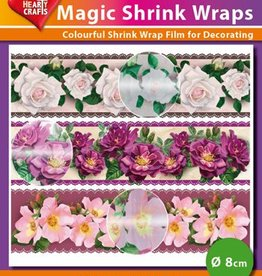 Hearty Crafts Magic Shrink Wraps, Metalic, Roses (⌀ 8 cm)