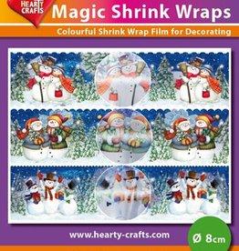 Hearty Crafts Magic Shrink Wraps, Metalic, Snowmen (⌀ 8 cm)