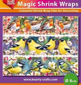 Hearty Crafts Magic Shrink Wraps, Birds Branch (⌀ 8 cm)