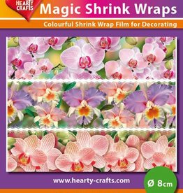 Hearty Crafts Magic Shrink Wraps, Orchids (⌀ 8 cm)